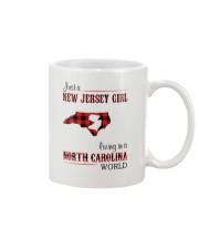 JERSEY GIRL LIVING IN NORTH CAROLINA WORLD Mug thumbnail
