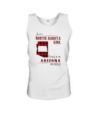 NORTH DAKOTA GIRL LIVING IN ARIZONA WORLD Unisex Tank thumbnail