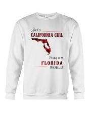 CALIFORNIA GIRL LIVING IN FLORIDA WORLD Crewneck Sweatshirt thumbnail
