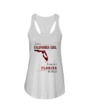 CALIFORNIA GIRL LIVING IN FLORIDA WORLD Ladies Flowy Tank thumbnail