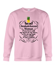 SASKATCHEWAN WOMAN A MOUTH I CAN'T CONTROL Crewneck Sweatshirt thumbnail