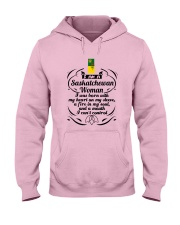 SASKATCHEWAN WOMAN A MOUTH I CAN'T CONTROL Hooded Sweatshirt thumbnail