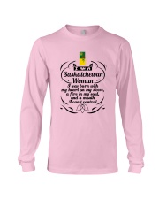 SASKATCHEWAN WOMAN A MOUTH I CAN'T CONTROL Long Sleeve Tee thumbnail