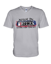 MADE IN IOWA A LONG LONG TIME AGO V-Neck T-Shirt thumbnail