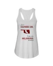 CALIFORNIA GIRL LIVING IN OKLAHOMA WORLD Ladies Flowy Tank thumbnail