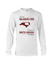 OKLAHOMA GIRL LIVING IN NORTH CAROLINA WORLD Long Sleeve Tee thumbnail