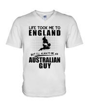 AUSTRALIAN GUY LIFE TOOK TO ENGLAND V-Neck T-Shirt thumbnail