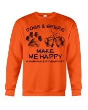 DOGS AND BEER MAKE ME HAPPY Crewneck Sweatshirt thumbnail