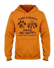 DOGS AND BEER MAKE ME HAPPY Hooded Sweatshirt thumbnail
