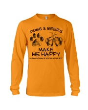 DOGS AND BEER MAKE ME HAPPY Long Sleeve Tee thumbnail