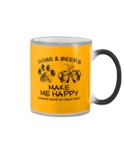 DOGS AND BEER MAKE ME HAPPY Color Changing Mug thumbnail