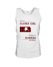 ALASKA GIRL LIVING IN KANSAS WORLD Unisex Tank thumbnail