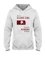 ALASKA GIRL LIVING IN KANSAS WORLD Hooded Sweatshirt thumbnail