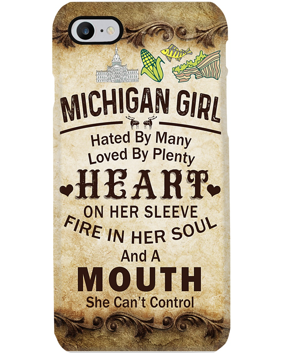 MICHIGAN GIRL A MOUTH SHE CAN'T CONTROL Phone Case