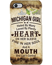 MICHIGAN GIRL A MOUTH SHE CAN'T CONTROL Phone Case i-phone-7-case