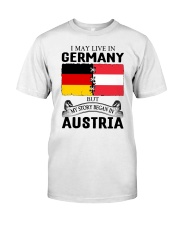 LIVE IN GERMANY BEGAN IN AUSTRIA ROOT WOMEN Classic T-Shirt tile