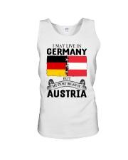 LIVE IN GERMANY BEGAN IN AUSTRIA ROOT WOMEN Unisex Tank thumbnail