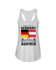 LIVE IN GERMANY BEGAN IN AUSTRIA ROOT WOMEN Ladies Flowy Tank thumbnail