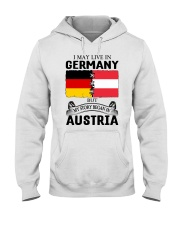 LIVE IN GERMANY BEGAN IN AUSTRIA ROOT WOMEN Hooded Sweatshirt thumbnail