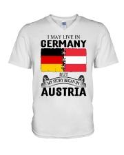 LIVE IN GERMANY BEGAN IN AUSTRIA ROOT WOMEN V-Neck T-Shirt thumbnail