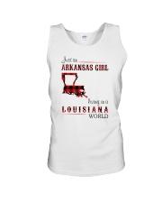 ARKANSAS GIRL LIVING IN LOUISIANA WORLD Unisex Tank thumbnail