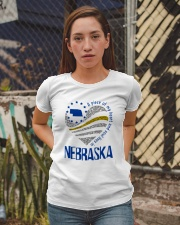 A PIECE OF MY HEART AND SOUL LIVES IN NEBRASKA Ladies T-Shirt apparel-ladies-t-shirt-lifestyle-03