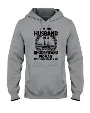 I'M THE HUSBAND OF A RHODE ISLAND WOMAN Hooded Sweatshirt thumbnail