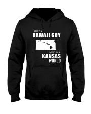 JUST A HAWAII GUY LIVING IN KANSAS WORLD Hooded Sweatshirt thumbnail