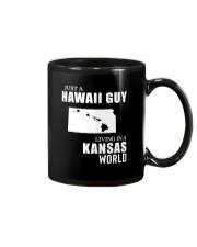 JUST A HAWAII GUY LIVING IN KANSAS WORLD Mug thumbnail