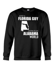 JUST A FLORIDA GUY LIVING IN ALABAMA WORLD  Crewneck Sweatshirt thumbnail