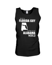 JUST A FLORIDA GUY LIVING IN ALABAMA WORLD  Unisex Tank thumbnail