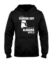 JUST A FLORIDA GUY LIVING IN ALABAMA WORLD  Hooded Sweatshirt thumbnail