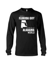 JUST A FLORIDA GUY LIVING IN ALABAMA WORLD  Long Sleeve Tee thumbnail