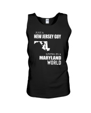 JUST A JERSEY GUY LIVING IN MARYLAND WORLD Unisex Tank thumbnail