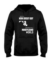 JUST A JERSEY GUY LIVING IN MARYLAND WORLD Hooded Sweatshirt thumbnail