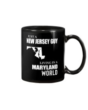 JUST A JERSEY GUY LIVING IN MARYLAND WORLD Mug thumbnail