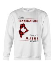 CANADIAN GIRL LIVING IN MAINE WORLD Crewneck Sweatshirt thumbnail