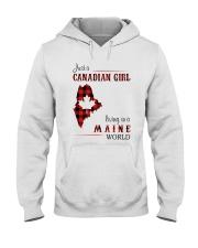 CANADIAN GIRL LIVING IN MAINE WORLD Hooded Sweatshirt thumbnail