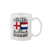 LIVE IN ENGLAND BEGAN IN NETHERLANDS Mug tile