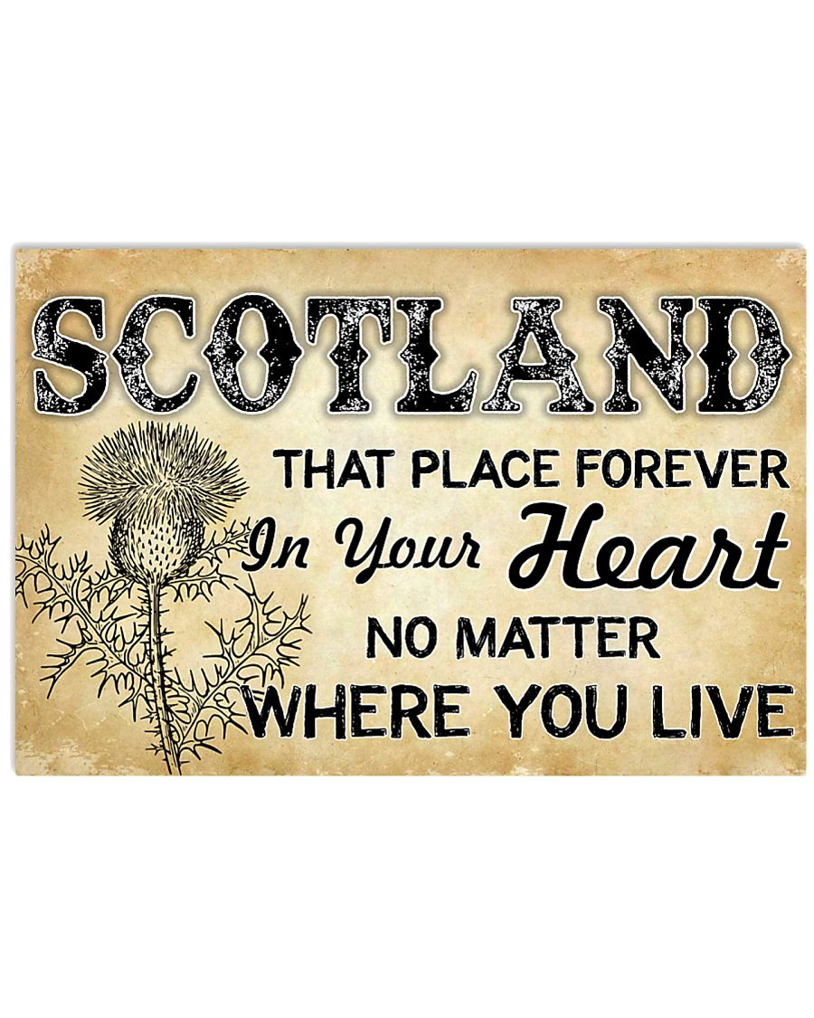 SCOTLAND THAT PLACE FOREVER IN YOUR HEART 17x11 Poster