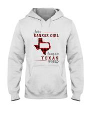 KANSAS GIRL LIVING IN TEXAS WORLD Hooded Sweatshirt thumbnail
