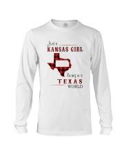 KANSAS GIRL LIVING IN TEXAS WORLD Long Sleeve Tee thumbnail