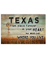 TEXAS THAT PLACE FOREVER IN YOUR HEART 17x11 Poster front