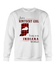 KENTUCKY GIRL LIVING IN INDIANA WORLD Crewneck Sweatshirt thumbnail