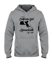 JUST A CALIFORNIA GIRL IN A MASSACHUSETTS WORLD Hooded Sweatshirt thumbnail