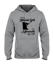 JUST A HAWAII GIRL IN A MINNESOTA WORLD Hooded Sweatshirt thumbnail