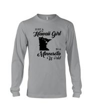 JUST A HAWAII GIRL IN A MINNESOTA WORLD Long Sleeve Tee thumbnail