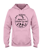 JUST A JERSEY GIRL LIVING IN A FLORIDA WORLD Hooded Sweatshirt thumbnail