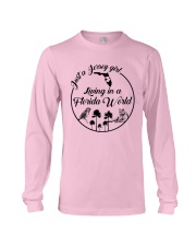 JUST A JERSEY GIRL LIVING IN A FLORIDA WORLD Long Sleeve Tee thumbnail