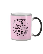 JUST A JERSEY GIRL LIVING IN A FLORIDA WORLD Color Changing Mug thumbnail